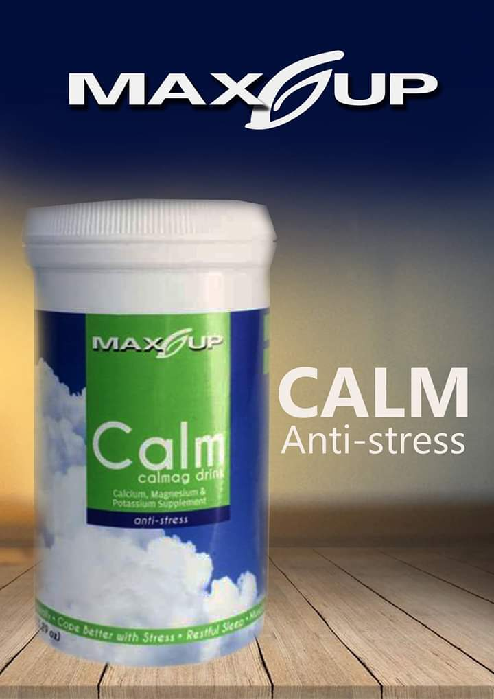 Maxup Calm - anti-stress CalMag and Potassium formulation that helps with restful sleep, reduces painful cramps